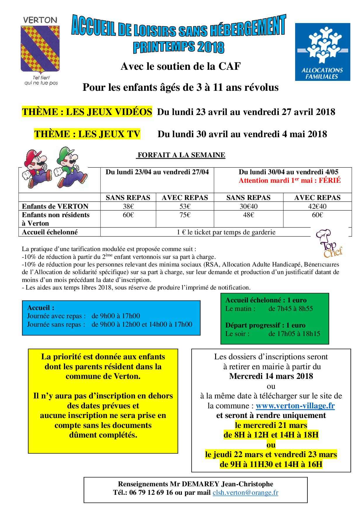 lettre d'inscription printemps 2018